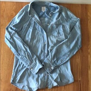 J. Crew Long sleeve denim button up